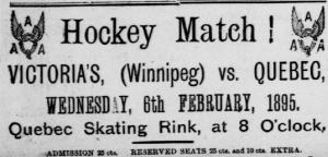 annonce de la rencontre entre Winnipeg et Québec