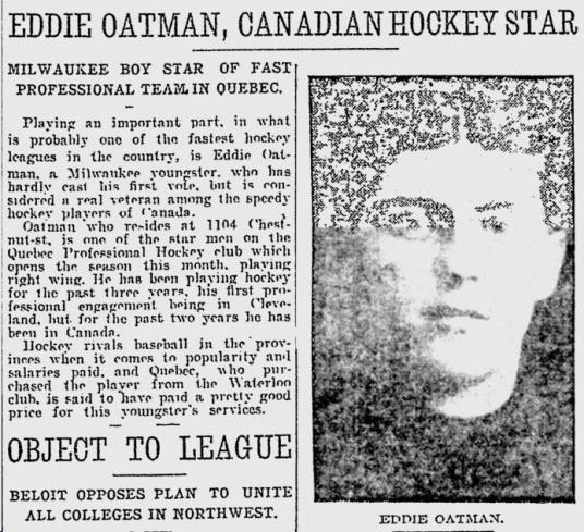 Milwaukee Journal, 15 décembre 1910. Étonnamment, l'Ontarien serait aussi de Milwaukee selon l'article, adresse à l'appui.