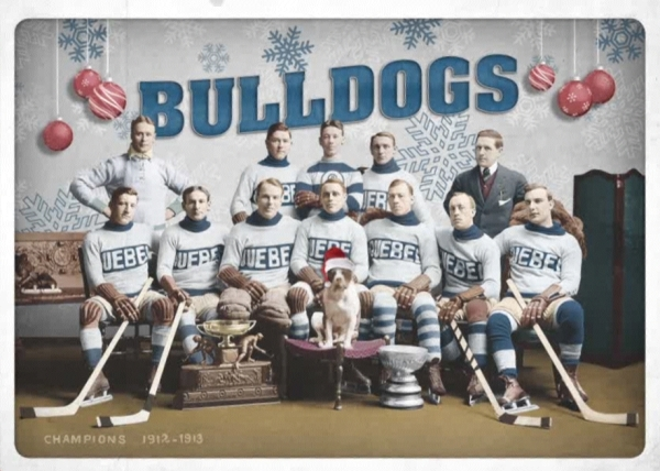 Bulldogs carte de noel