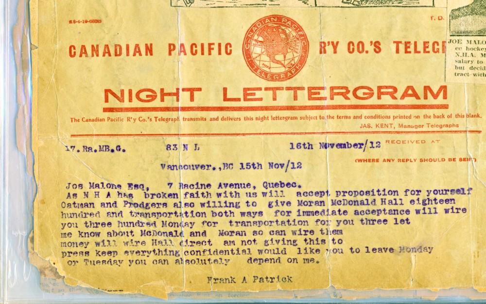 Il y a 100 ans: Québec gagnait sa dernière Coupe Stanley. (2/6)