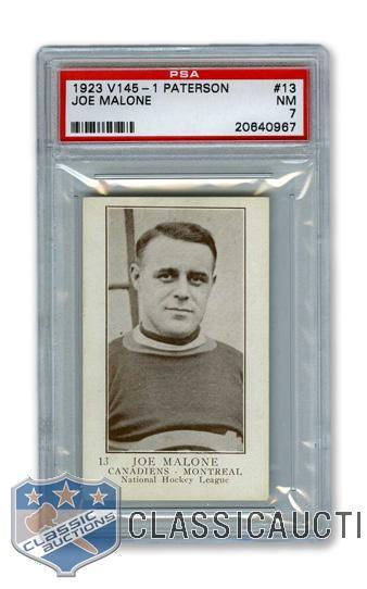 La carte de 1913-24 de Joe Malone avec le CH.