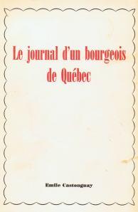 Journal d'un bourgeois de Québec page frontale