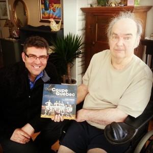 enfin, j'ai pu remettre mon livre à Donald Guay, le plus grand historien en sports au Québec.