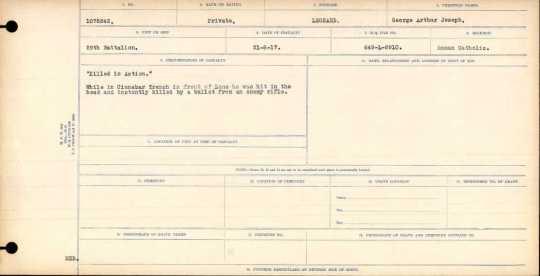 17 août 1917. Résumé de l'armée canadienne.