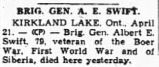 1948 04 21 Annonce de la mort de AE Swift