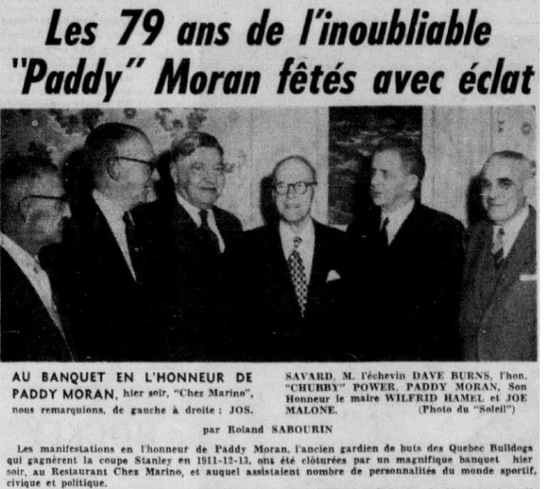 1956 03 12 Paddy Moran célébré